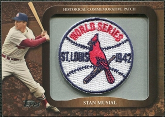 2009 Topps Legends Commemorative Patch #LPR107 Stan Musial