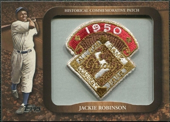 2009 Topps Legends Commemorative Patch #LPR111 Jackie Robinson