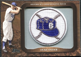 2009 Topps Legends Commemorative Patch #LPR120 Duke Snider