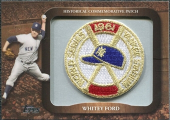 2009 Topps Legends Commemorative Patch #LPR124 Whitey Ford