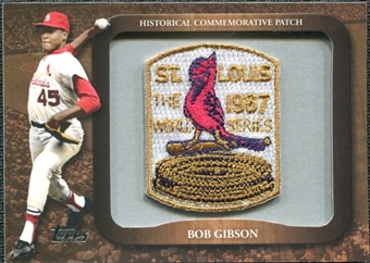 2009 Topps Legends Commemorative Patch #LPR130 Bob Gibson