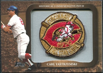 2009 Topps Legends Commemorative Patch #LPR134 Carl Yastrzemski