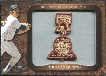 2009 Topps Legends Commemorative Patch #LPR139 Thurman Munson