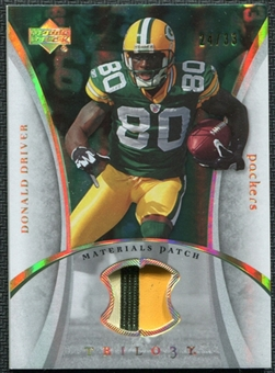 2007 Upper Deck Trilogy Materials Patch Hologold #DD Donald Driver 24/33