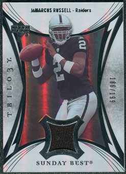 2007 Upper Deck Trilogy Sunday Best Jersey Silver #JR JaMarcus Russell /199