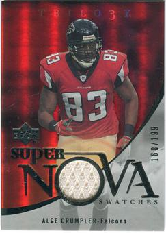2007 Upper Deck Trilogy Supernova Swatches Silver #AC Alge Crumpler /199