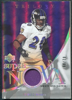 2007 Upper Deck Trilogy Supernova Swatches Patch #ER Ed Reed 66/79