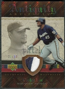 2007 Upper Deck Artifacts Antiquity Artifacts Patch #CL Carlos Lee /50
