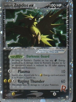 Pokemon Team Rocket Returns Single Rocket's Zapdos ex 106/109