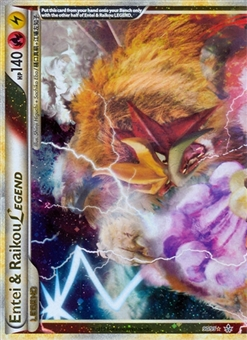 Pokemon Unleashed Single Entei & Raikou Legend (Top) 90/95