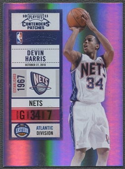 2010/11 Playoff Contenders Patches Championship Tickets #58 Devin Harris 1/1