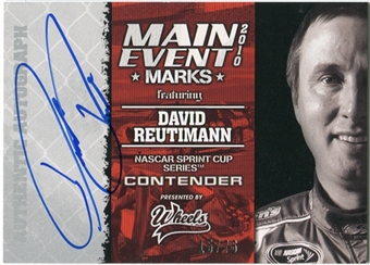 2010 Press Pass Wheels Main Event Marks Autographs #46 David Reutimann 15/76