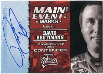 2010 Press Pass Wheels Main Event Marks Autographs Blue #47 David Reutimann 17/50