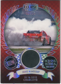 2011 Press Pass Burning Rubber Holofoil #BRCJM Jamie McMurray Charlotte /50 Tire