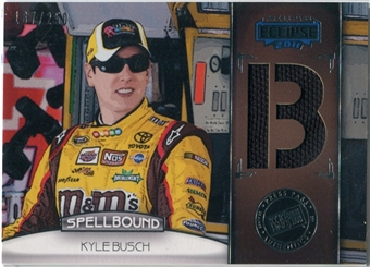2011 Press Pass Eclipse Spellbound Swatches #SBKB1 Kyle Busch B /250