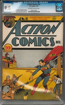 Action Comics #31 CGC 9.0 (OW-W) *1204151001*