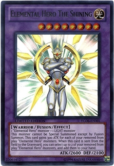 Yu-Gi-Oh Promo Single Elemental Hero The Shining Ultra Rare YG06
