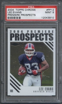 2004 Topps Chrome Football #PP12 Lee Evans Rookie PSA 9 (MINT) *3910