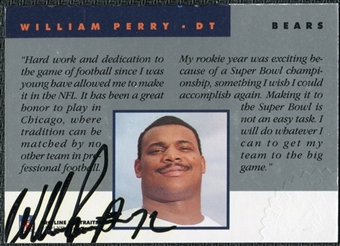 1991 Pro Line Portraits Autographs #198 William Perry Autograph