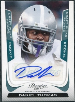 2011 Panini Prestige Draft Picks Rights Autographs #226 Daniel Thomas /99