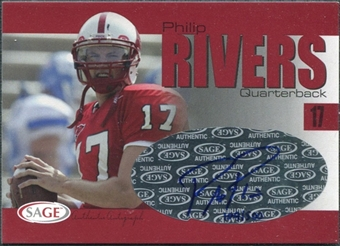 2004 Sage SAGE Autographs Red #A32 Philip Rivers RC Autograph /500