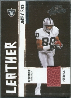 2005 Playoff Absolute Memorabilia Leather #27 Jerry Rice /250
