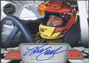 2012 Press Pass Autographs Silver #PPAKUB Kurt Busch Autograph 7/20