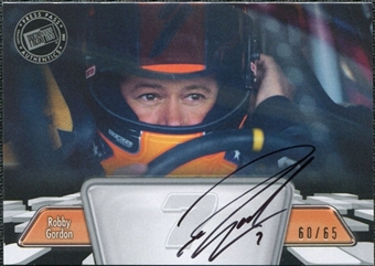 2012 Press Pass Autographs Silver #PPARG Robby Gordon Autograph 60/65