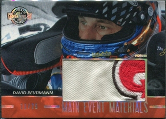 2011 Press Pass Wheels Main Event Materials Holofoil #MEMDR David Reutimann 11/25