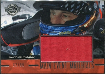 2011 Press Pass Wheels Main Event Materials Silver #MEMDR David Reutimann 32/99