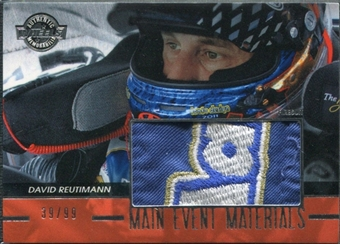 2011 Press Pass Wheels Main Event Materials Silver #MEMDR David Reutimann 39/99