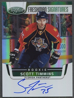 2011/12 Panini Certified Mirror Emerald #192 Scott Timmins 4/5 Rookie Autograph