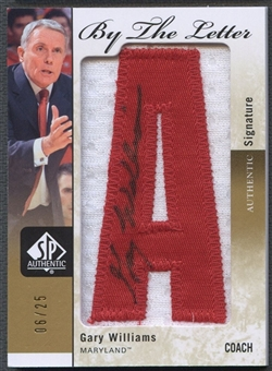 """2011/12 SP Authentic #BLGW Gary Williams By The Letter """"A"""" Patch Auto #06/25"""