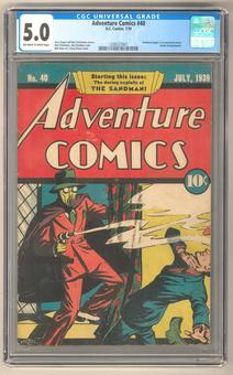 Adventure Comics #40 CGC 5.0 (OW-W) *1206327001*