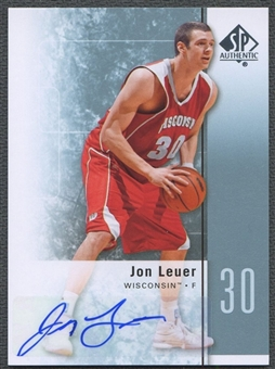 2011/12 SP Authentic #41 Jon Leuer Rookie Auto