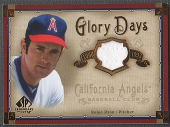2005 SP Legendary Cuts Glory Days #NR Nolan Ryan Jersey