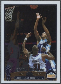 2003/04 Topps Chrome #113 Carmelo Anthony Rookie