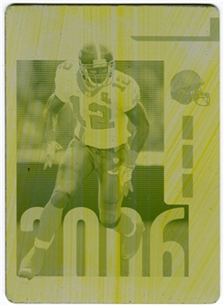 2006 Playoff Contenders Printing Plates Yellow #218 Marques Colston RC 1/1