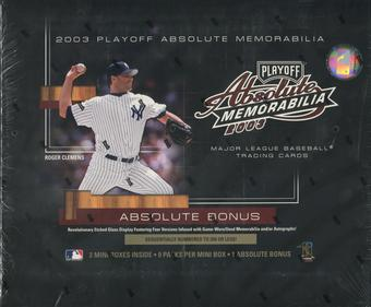 2003 Playoff Absolute Memorabilia Baseball Hobby Box