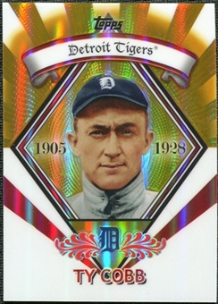 2009 Topps Legends Chrome Target Cereal Gold Refractors #GR13 Ty Cobb