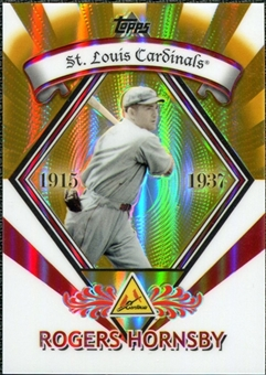 2009 Topps Legends Chrome Target Cereal Gold Refractors #GR19 Rogers Hornsby