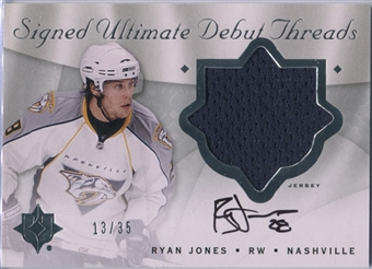 2008/09 Ultimate Collection Debut Threads Autographs #SDTRJ Ryan Jones 13/35
