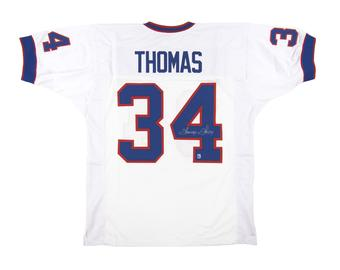 Thurman Thomas Autographed Buffalo Bills White Football Jersey