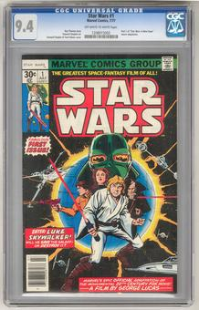 Star Wars #1 CGC 9.4 (OW-W) *1208015002*