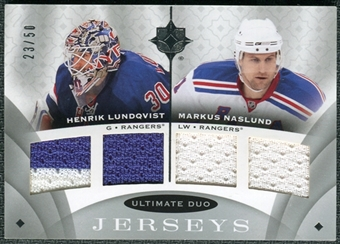 2008/09 Upper Deck Ultimate Collection Ultimate Jerseys Duos #UJ2LN Henrik Lundqvist Markus Naslund /50