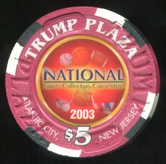 2003 National Convention Exclusive $5 Trump Plaza Poker Chip