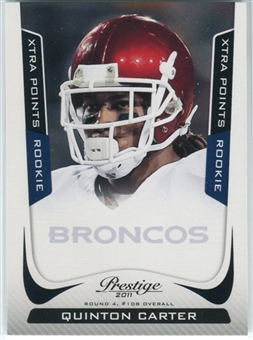 2011 Panini Prestige Xtra Points Black #278 Quinton Carter /10