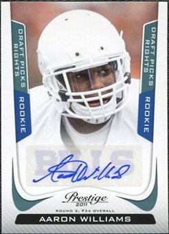 2011 Prestige Draft Picks Rights Autographs #202 Aaron Williams Autograph /599