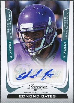 2011 Panini Prestige Draft Picks Rights Autographs #239 Edmond Gates /599