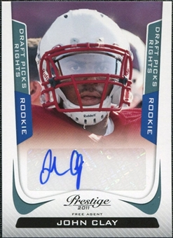 2011 Panini Prestige Draft Picks Rights Autographs #252 John Clay /1499
